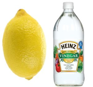 Ant repellent spray using lemon juice or vinegar.