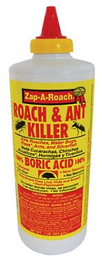 Zap-A-Roach and Ant Kiiller with boric acid ant bait to kill ants naturally.