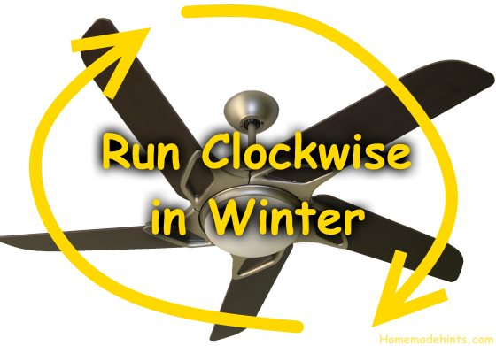 run ceiling fan clockwise in winter