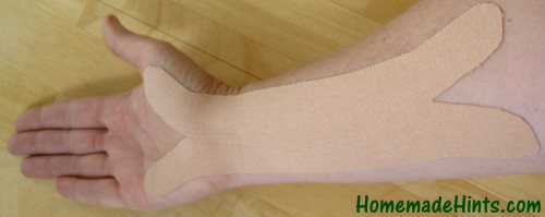 How to use kinesiology tape for carpal tunnel syndrome.