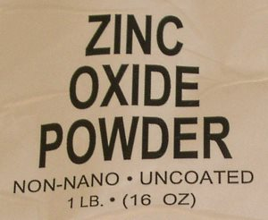Use micronized, non-nano zinc oxide powder for sunscreen.