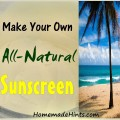 How to make an all-natural sunscreen recipe.