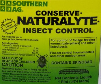 Conserve Naturalyte spinosad natural insect control for ants and other pests.