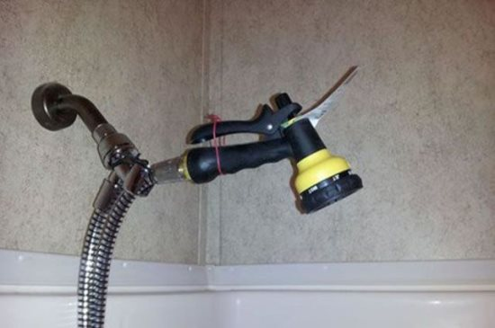 how to DIY repair a showerhead cheaply