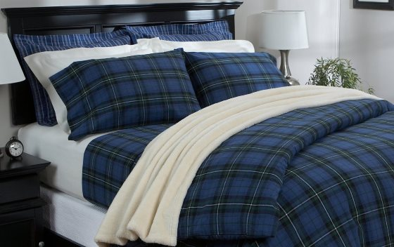 use flannel sheets to keep you warm